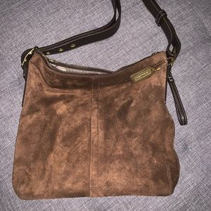 Suade/Leather COACH handbag